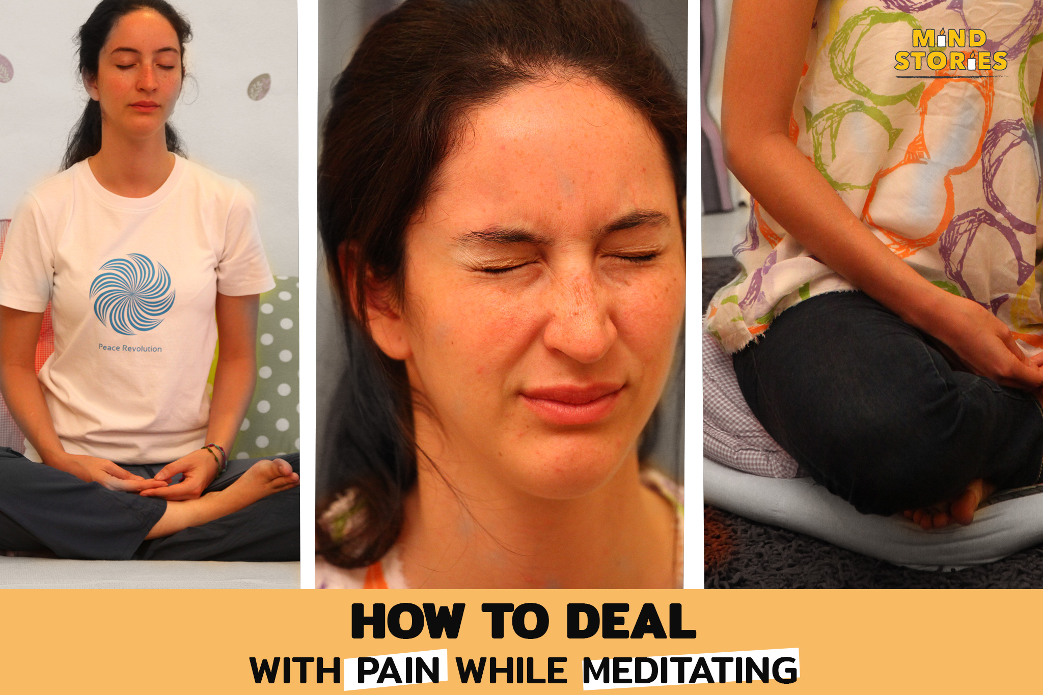 How to deal with pain while meditating?
